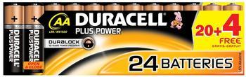 Duracell Plus Power AA Mignon Alkaline Batterie 1,5V (20+4 St.)