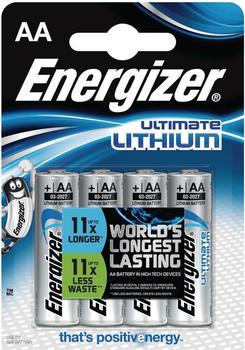 Energizer Ultimate Lithium AA Mignon L91 Batterie 1,5V 3000 mAh (4 St.)