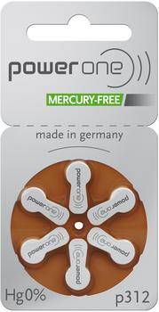 Powerone p312 Zink-Luft MERCURY FREE 1,45V 170 mAh (60 St.)