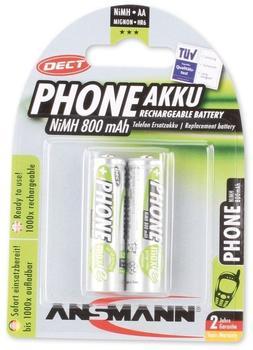 Ansmann AA / HR6 800 mAh Phone DECT Akku 2 St. (5030902)