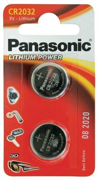 Panasonic Knopfzelle CR2032 Batterie 3V 220 mAh (2 St.)