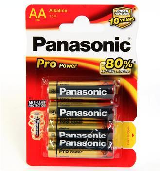 Panasonic Pro Power AA Alkaline Batterien LR06 1,5V (4 St.)