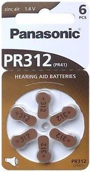Panasonic PR312 Knopfzelle Zink-Luft Batterie 1,4V 180 mAh (6 St.)