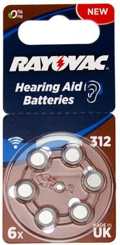 Rayovac Acoustic Special 312 Zink-Luft 1,4V 180 mAh (6 St.)