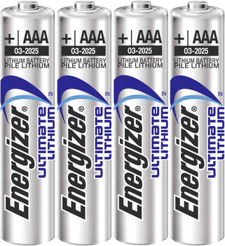 Energizer Ultimate Lithium AAA / LR03 Batterie 1,5V 1250 mAh (4 St.)