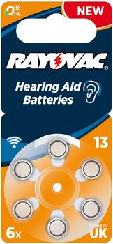 Rayovac Acoustic Special 13 Zink-Luft Batterie 1,4V 310 mAh (6 St.)