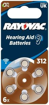 Rayovac Acoustic Special 312 Zink-Luft Batterie 1,4V 160 mAh (6 St.)