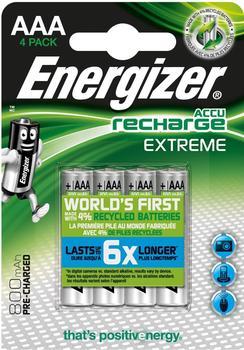 Energizer NiMH Akku Extreme Micro (AAA) 800 mAh (4 Stck.)