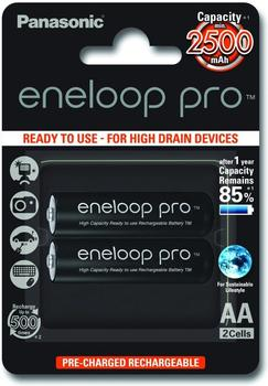 Panasonic eneloop pro Mignon AA 1,2V 2450mAh (2 St.)