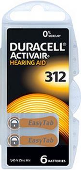 Duracell 312 Activair Hearing Aid 1,4V (6 St.)