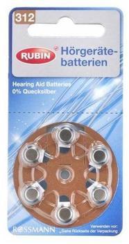 Rossmann Rubin 312 Hörgerätebatterien
