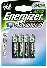 Energizer AAA Micro HR03 NiMH Akku 1,2V 1000 mAh (4 St.)