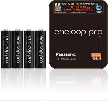 Panasonic eneloop pro AA 2500mAh 4 St. + Storage Case (BK-3HCDE/4LE)