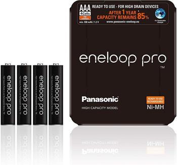 Panasonic eneloop pro AAA 930mAh 4 St. + Storage Box (BK-4HCDE/4LE)