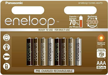 Panasonic eneloop earth tones limited edition AAA 750mAh 8 St. (BK-4MCCE/8UE)