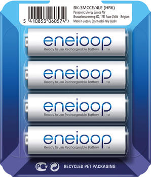 Panasonic eneloop AA 1900mAh 4 St. + Storage Case (BK-3MCCE/4LE)