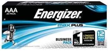 Energizer Max Plus AAA Alkaline Batteries - Pack of 20
