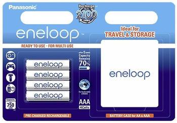 Panasonic eneloop AAA 750mAh + Box (4 St.)