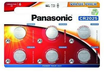 Panasonic CR2025EL/6BP CR2025 3V 6 Stck.