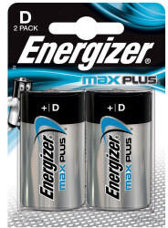 Energizer D Size Max Plus Alkaline Battery - Pack of 2