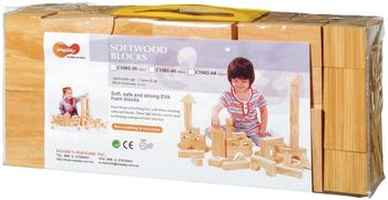 Eduplay Soft Wood Bausteine 68-teilig