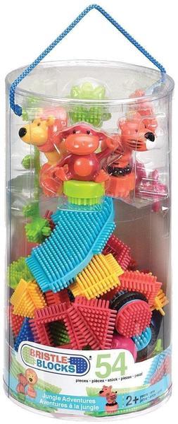 Battat Bristle Blocks - 54-pieces Jungle Adventures