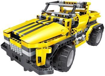 XciteRC Teknotoys Active Bricks RC 2in1 Pickup Truck & Roadster gelb mit Fernsteuerung