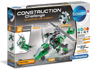 Clementoni Galileo Science - Construction Challenge: Helikopter & Airboat
