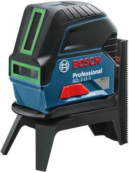 Bosch GCL 2-15 G Professional (Deckenklammer und Koffer, Grün)