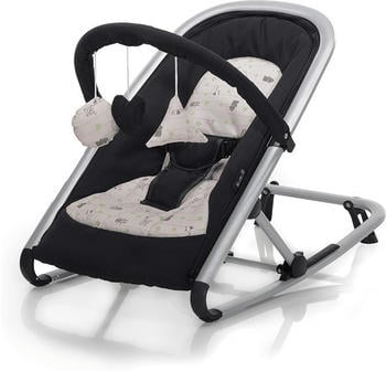 Baby Plus Wippe Isa black/animal