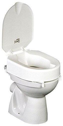 ETAC Hi-Loo Toilettensitzerhöhung 6 cm mit Deckel und Klammern 80301067