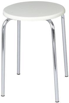 Wenko Exclusiv Hocker weiße MDF-Sitzfläche (15580100)