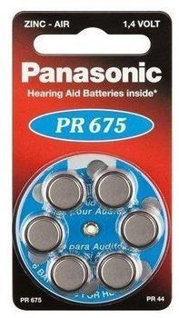Panasonic PR 675 1,4V, 6 Stück