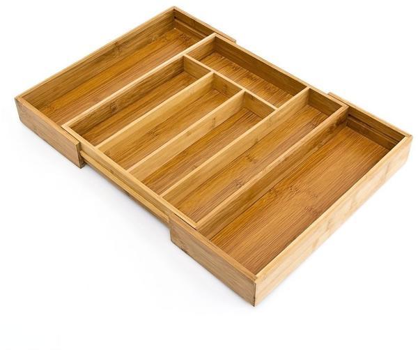 Relaxdays Besteckkasten ausziehbar 29-45cm