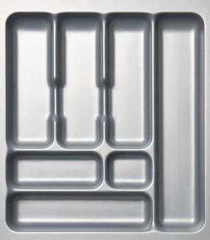 Naber Besteckeinsatz silbergrau 45 cm (Blum-Auszüge)