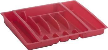 Zeller Kunststoff Besteckkasten ausziehbar (weiß)