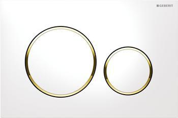 Geberit Sigma20 (115.882.KK.1) weiß / vergoldet