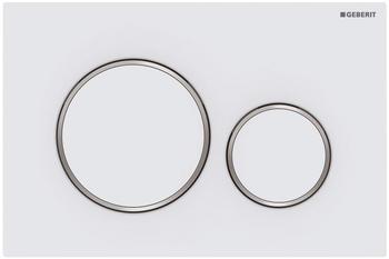 Geberit Betätigungsplatte Sigma 20 für 2 Mengen-Spülung weiß matt/hochglanz-verchromt