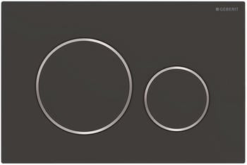 Geberit Betätigungsplatte Sigma 20 für 2 Mengen-Spülung schwarz matt/hochglanz-verchromt