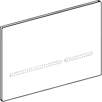 Geberit Betätigungsplatte Sigma80, für 2-Mengenspülung, Glas Sigma 80 schwarz