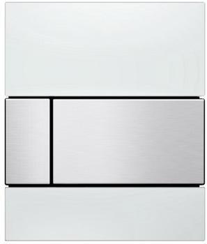 Tece square Glas weiß/edelstahl gebürstet (9242801)