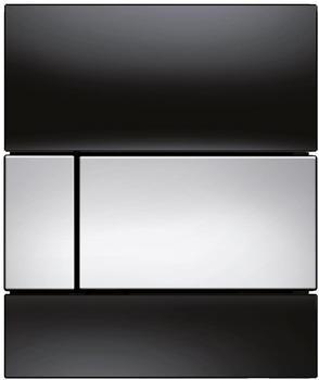 Tece square Glas schwarz/chrom glänzend (9242807)