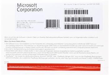 Microsoft Windows 10 Home 32-bit (OEM) (DE) (Box)