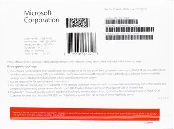 Microsoft Windows 10 Pro 32-bit (EN) (Box)