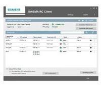 Siemens SINEMA RC Client V1.0, Software
