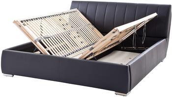 Meise Möbel Polsterbett Luna 200x200cm schwarz