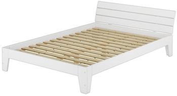 Erst-Holz Einzelbett mit Rollrost (60.54-12) 120x200cm weiß