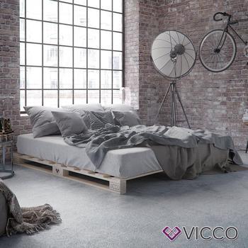 VICCO Palettenbett Massivholzbett 120x200cm