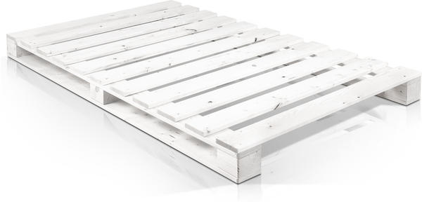 Möbel-Eins Paletti Fichte weiß 140x200cm