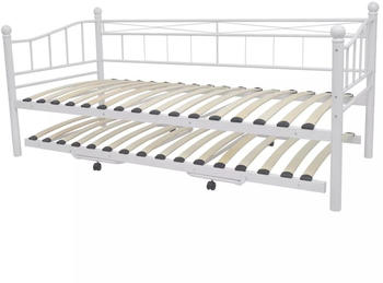 VidaXL Tagesbett Stahl weiß